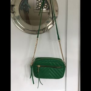 Charming Charlie Green Faux Leather Shoulder Bag